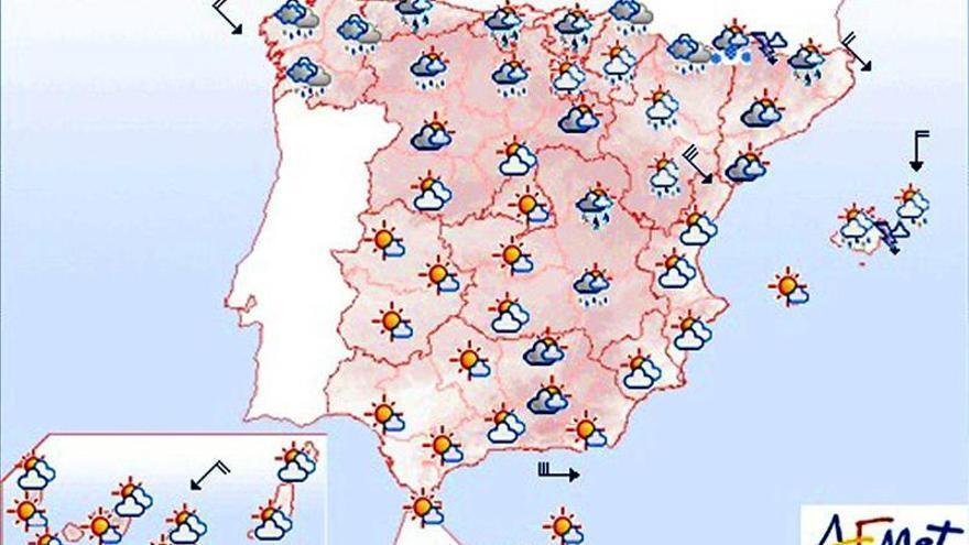 Intervalos de viento fuerte en el litoral cantábrico y Alborán