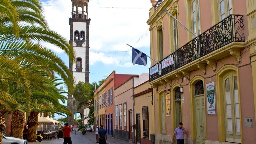 Casas coloniales de la 'Calle de La Noria' en Santa Cruz de Tenerife.