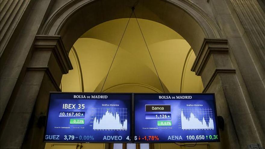 El IBEX abre con cautela y cae un 0,68 % y pierde los 10.300 puntos