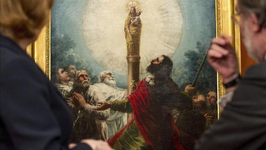 El Museo de Zaragoza muestra desde hoy un cuadro de Goya del apóstol Santiago
