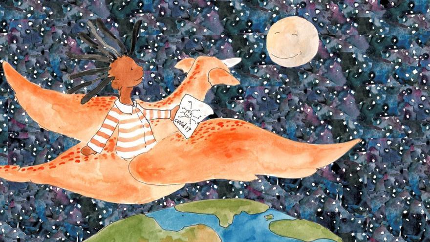 Una de las ilustraciones de 'Mi héroe eres tú'