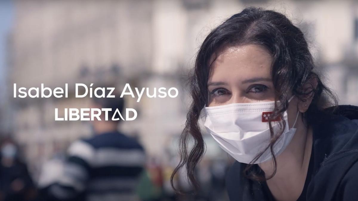 Captura del vídeo de Isabel Díaz Ayuso.