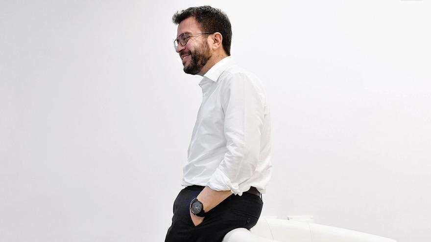 Pere Aragonès, vicepresident en funciones y candidato de ERC a la Generalitat