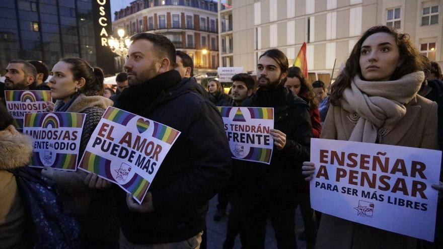Concentración contra el veto parental en Madrid.