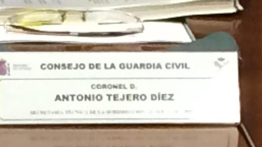 Cartel del coronel Tejero Díez en al Consejo de la Guardia Civil / AUGC