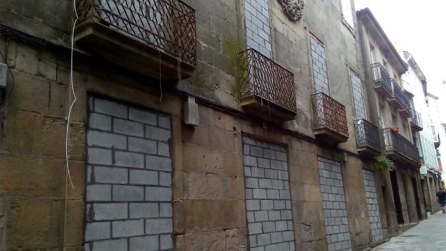 Aspecto del edificio tras ser tapiado