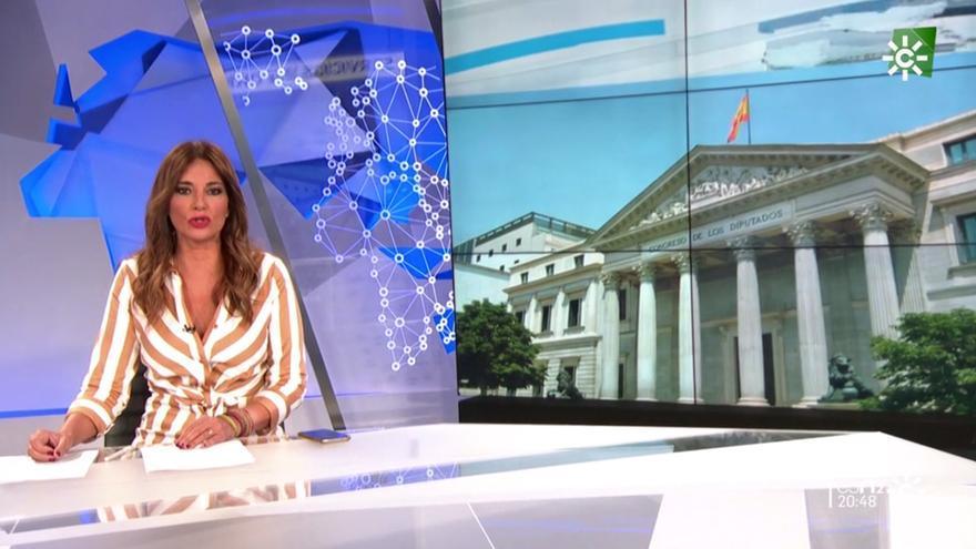 Mariló Montero en las Noticias 2 de Canal Sur