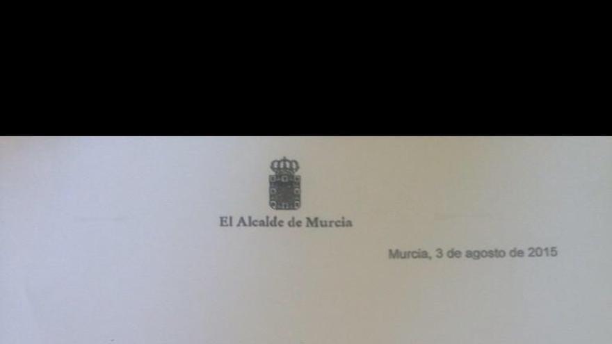 Carta Alcalde de Murcia defiende el acuerdo de la Sociedad Murcia Alta Velocidad