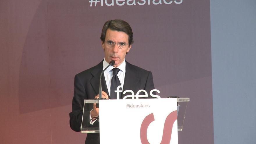 Aznar niega conocer y ser responsable de la financiación irregular del PP y dice que no ha tenido relación con Correa