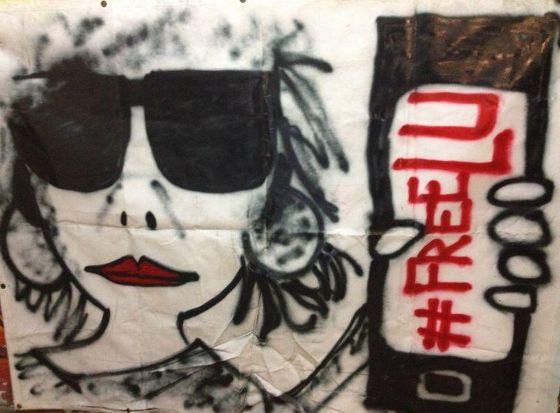Pancarta en solidaridad con Lucía | @patiomaravillas