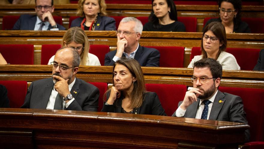 """Aragonès y Budó transmiten su """"malestar"""" a Torra por no haberles explicado su propuesta"""