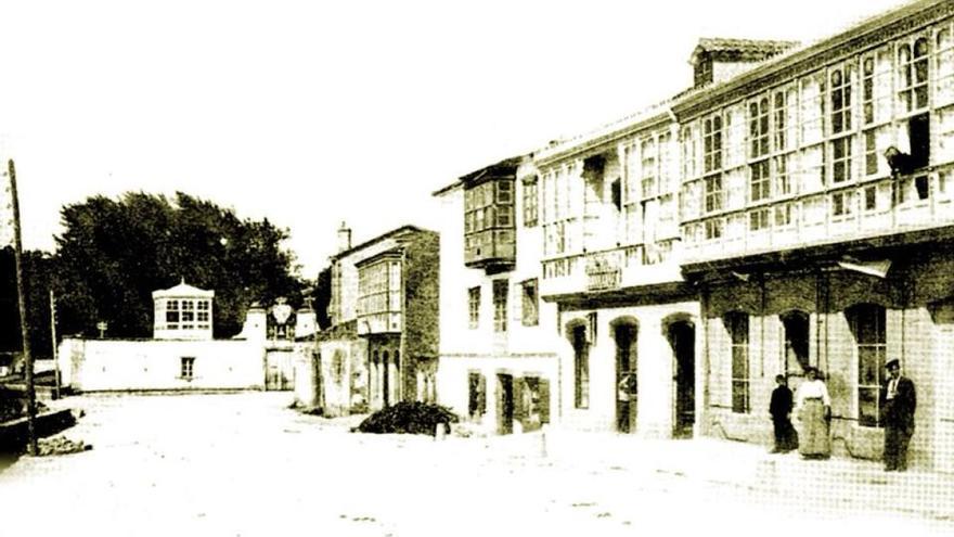 Imagen de Xubia (A Coruña), a comienzos del siglo XX