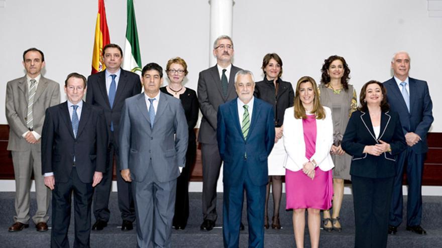 Toma de posesión de los consejeros de José Antonio Griñán para la presente legislatura.