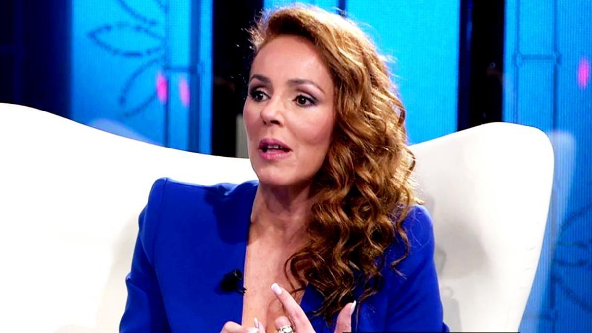 Rocío Carrasco, en el plató de Telecinco