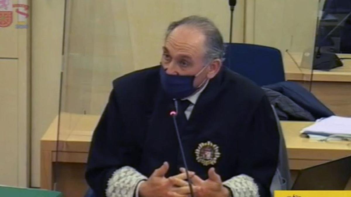 El fiscal Antonio Romeral en una de las sesiones del juicio de la caja B del PP.