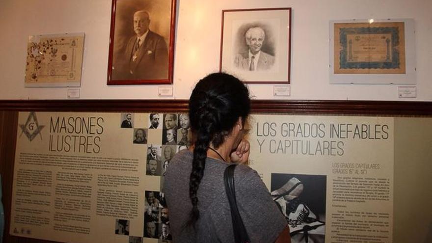 En la imagen, exposición sobre la masonería en La Investigadora. Foto: JOSÉ AYUT