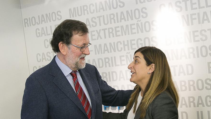 Rajoy y Buruaga en una reunión del Comité Ejecutivo Nacional del PP.