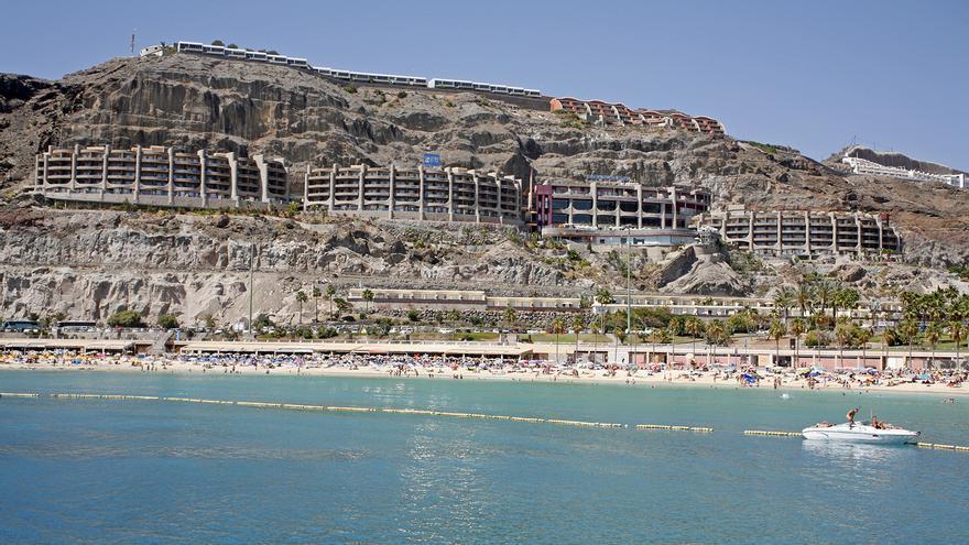 Playa de Amadores en Gran Canaria. (ALEJANDRO RAMOS)