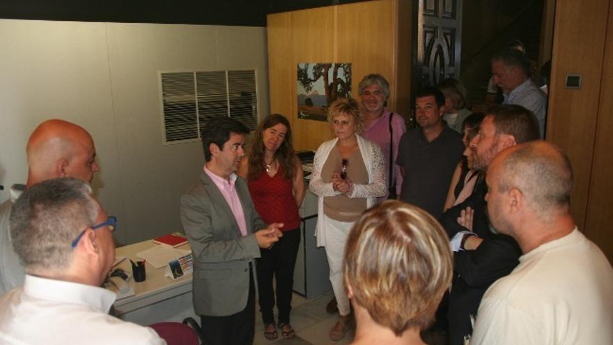 Inauguración oficial de la Oficina Municipal de Vivienda de Huesca, el pasado 14 de julio.