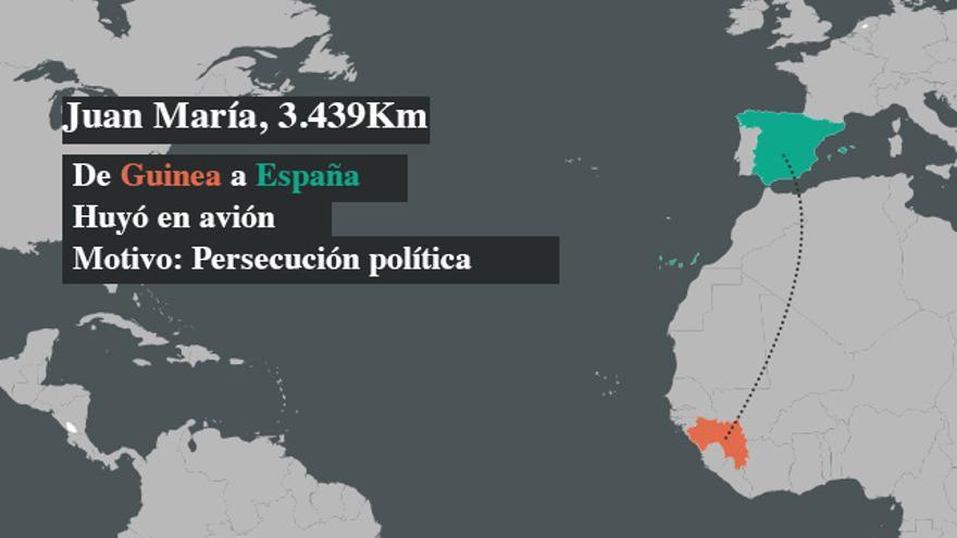 Juan María huyó de Guinea a España por persecución política