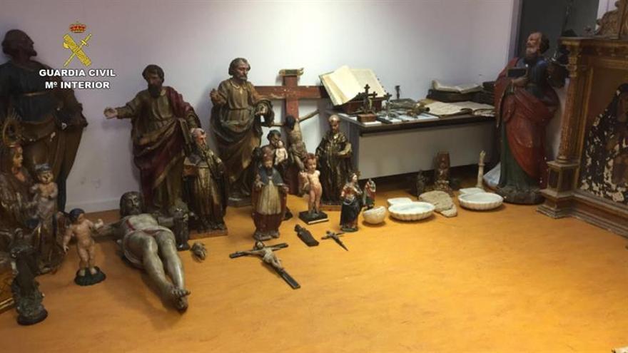 Desarticulada una banda dedicada a recepcionar y vender arte religioso robado