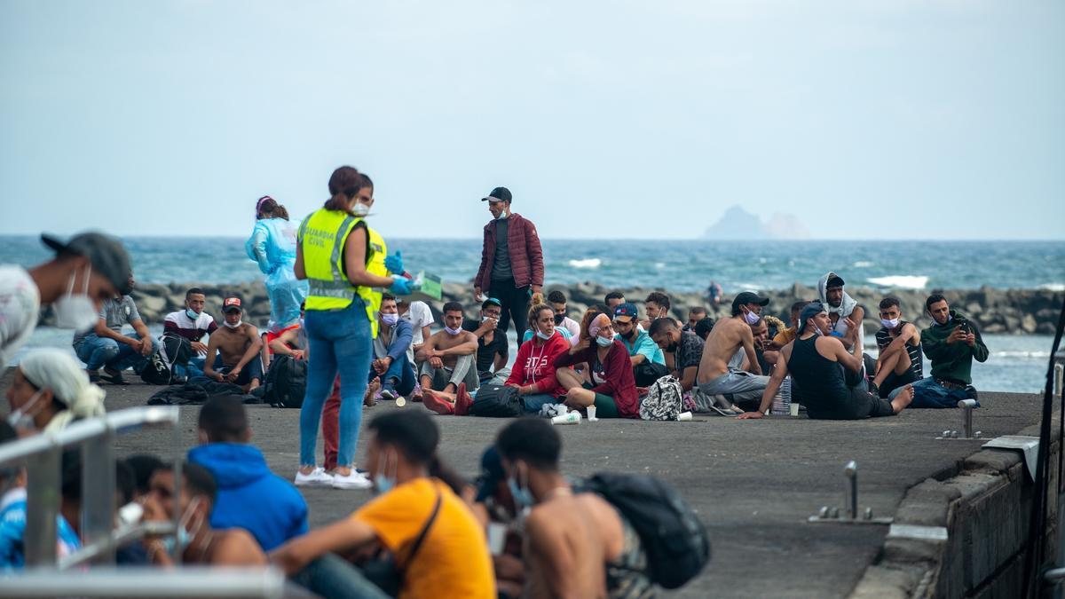 Llegada de personas migrantes a Lanzarote el pasado 26 de septiembre