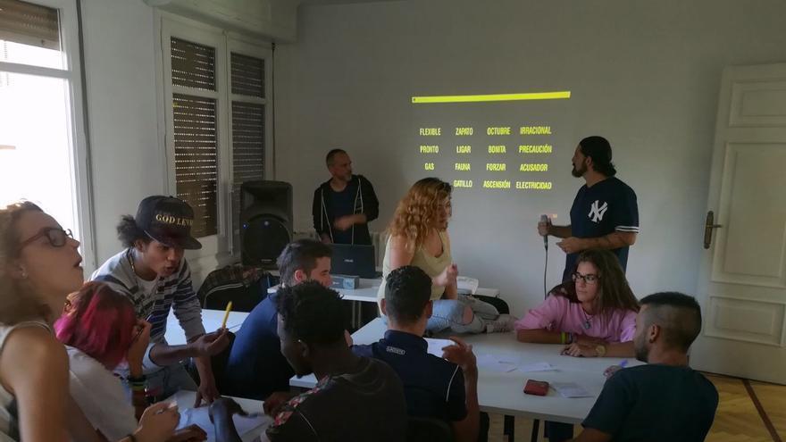 La academia de rap fue una de las iniciativas contempladas en este Plan de Empleo de Huesca