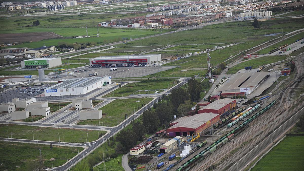 Vista aérea del polígono de la carretera de Palma