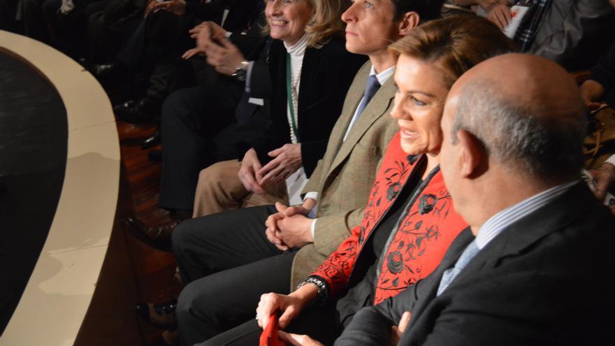 Bayod, El Juli, Cospedal y Wert en la apertura del I Congreso Internacional de la Tauromaquia, Albacete, 27/2/15 / Foto: Javier Robla