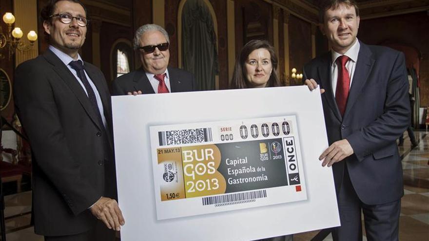"""La ONCE emitirá cinco millones de cupones sobre """"Burgos Capital Gastronómica"""""""