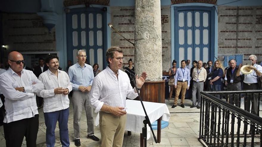 Castro y Feijóo buscan fortalecer nexos económicos entre Cuba y Galicia