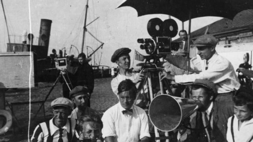 Sergei Eisenstein en el rodaje de 'El acorazado Potemkin'