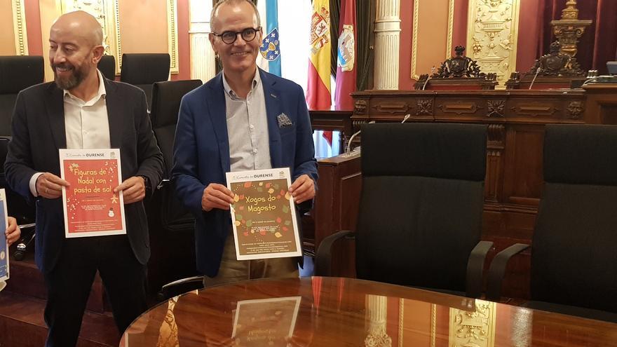 José Araújo (izquierda), en una imagen de archivo presentando una actividad municipal con el alcalde de Ourense, Jesús Vázquez