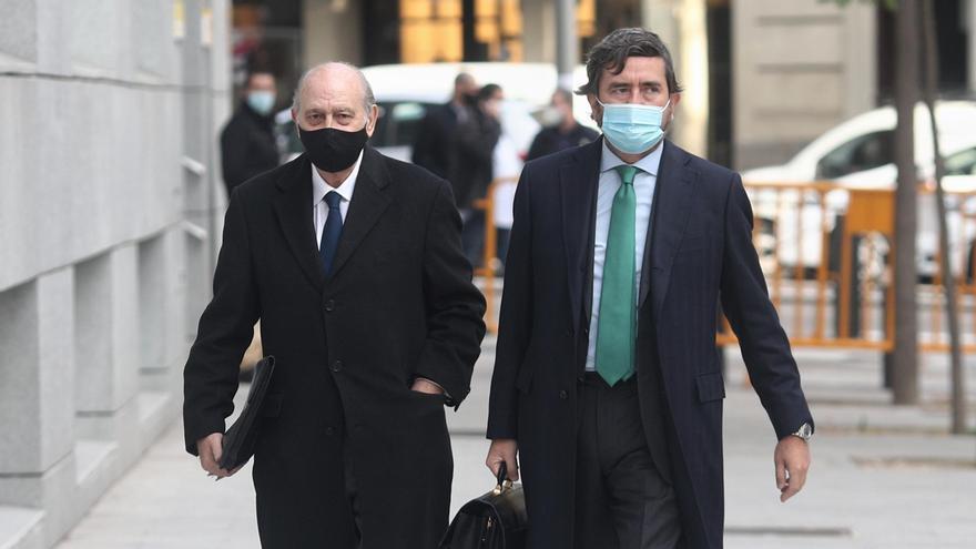 El exministro del Interior Jorge Fernández Díaz llega a la Audiencia Nacional para realizar un careo relacionado con la pieza 'Kitchen