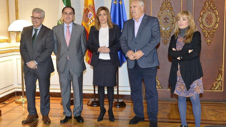 CEA, UGT y CCOO avalan las peticiones de Susana Díaz ante Rajoy para incluir proyectos dentro del Plan Juncker