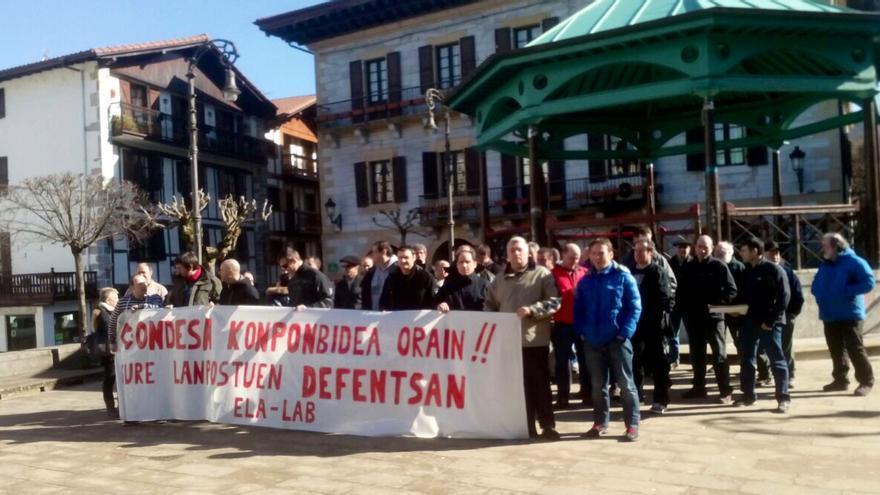 Trabajadores que dependen de Condesa volvieron a protestar esta semana, esta vez en Lesaka.