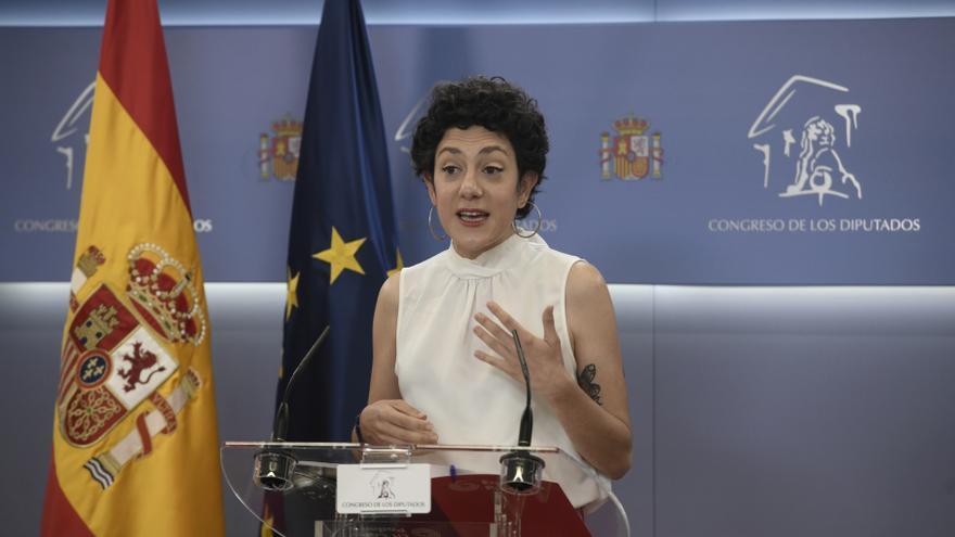 Archivo - La portavoz parlamentaria de Unidas Podemos, Aina Vidal, interviene en una rueda de prensa anterior a una Junta de Portavoces, a 18 de mayo de 2021, en el Congreso de los Diputados, Madrid, (España).