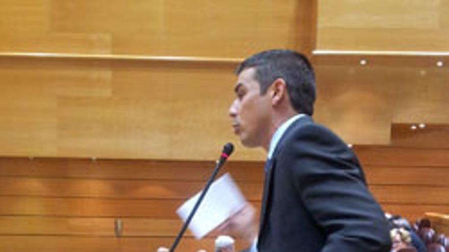 Narvay Quintero, este martes, en el Senado.
