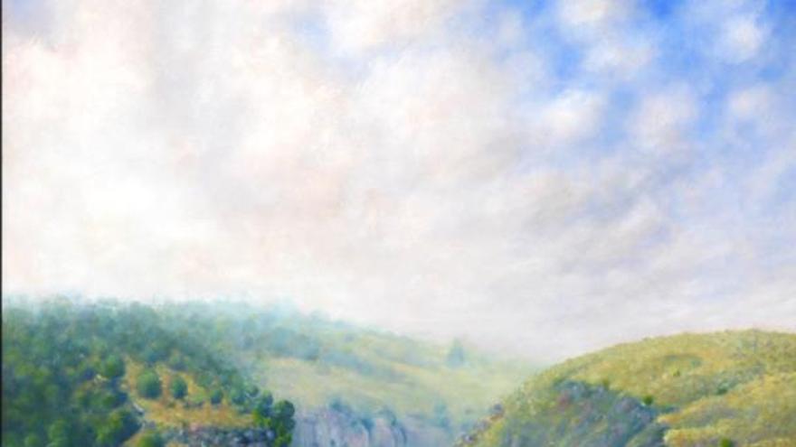 Una de las pinturas de Pascual Lucas que podrá verse en la muestra de Podemos Cieza