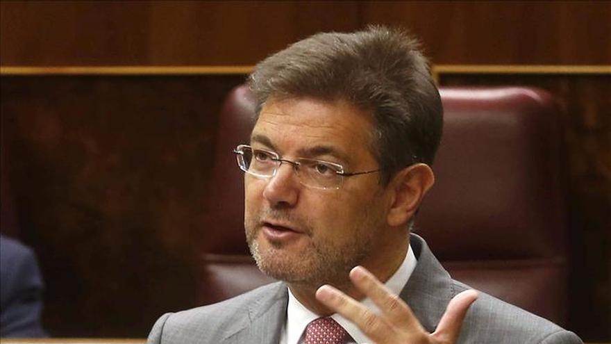 El ministro de Justicia, Rafael Catalá, en el Congreso de los Diputados.
