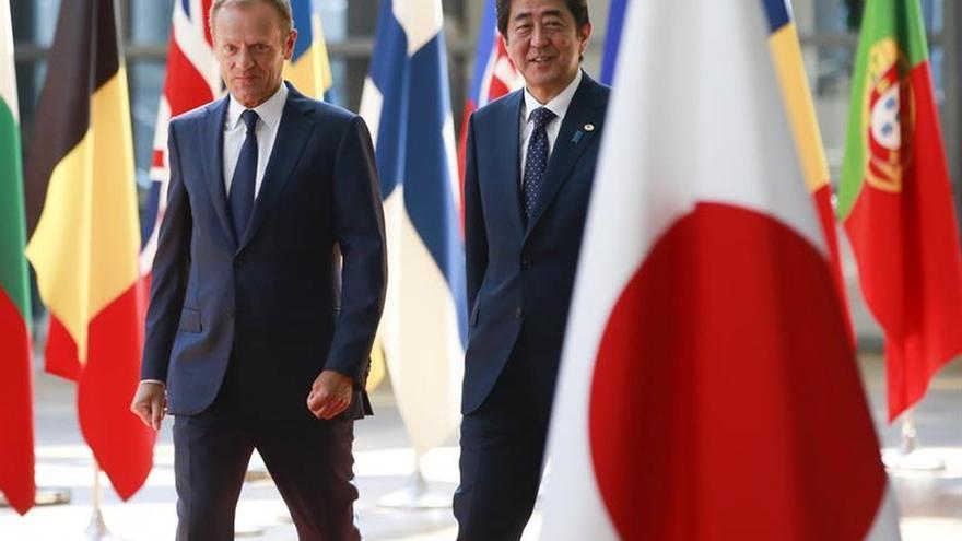 La UE y Japón enarbolan la bandera del libre comercio con un acuerdo ante el G20