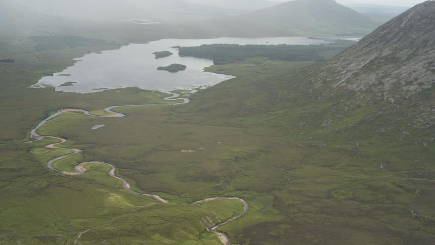 El Lago Inagh desde las alturas. Conor Lawless