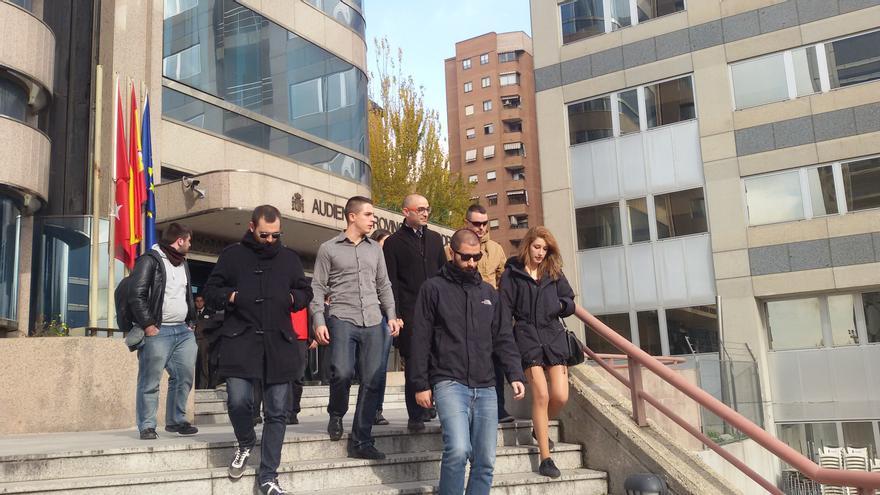Alfon Fernández, a la salida del juicio por tenencia de explosivos en la Audiencia Provincial de Madrid, el 25 de noviembre de 2014. / E.C.