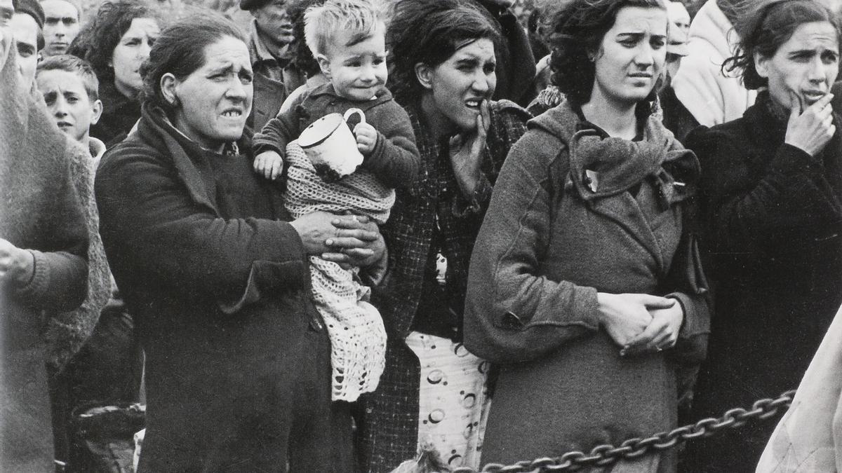 Refugiados republicanos en Argelès-sur-Mer (Francia)