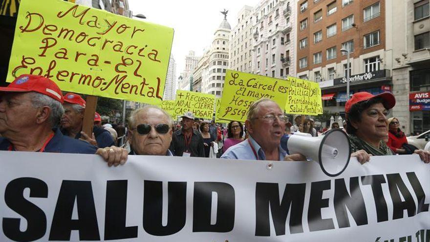 Manifestación, años atrás, para exigir el aumento de recursos públicos para la salud mental.