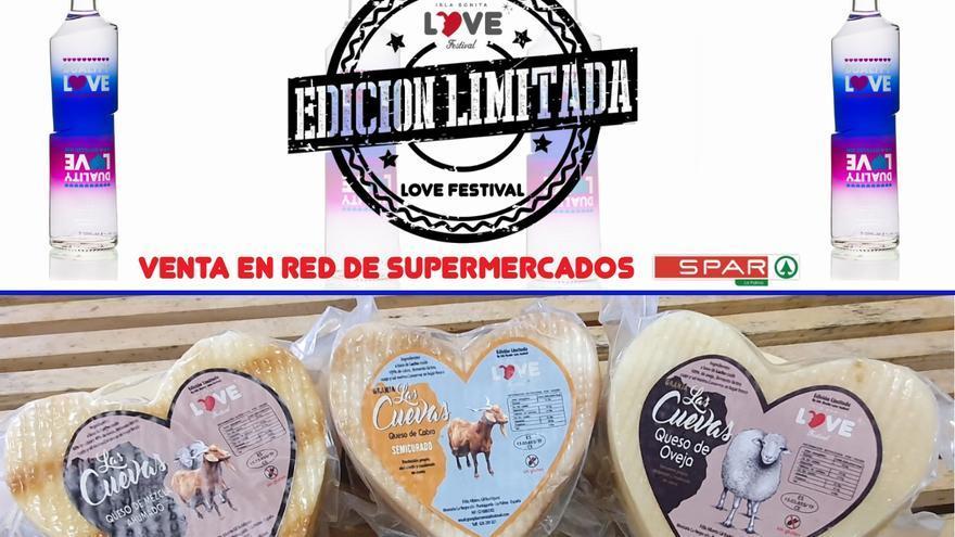 Los productos exclusivos para el Love Festival.