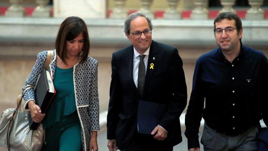 El president Quim Torra en el Parlament de Catalunya