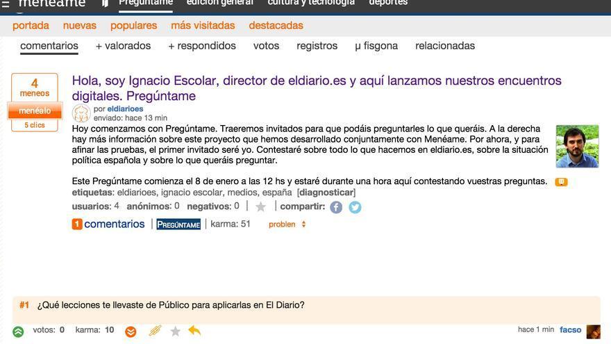Captura de pantalla del Pregúntame de Ignacio Escolar