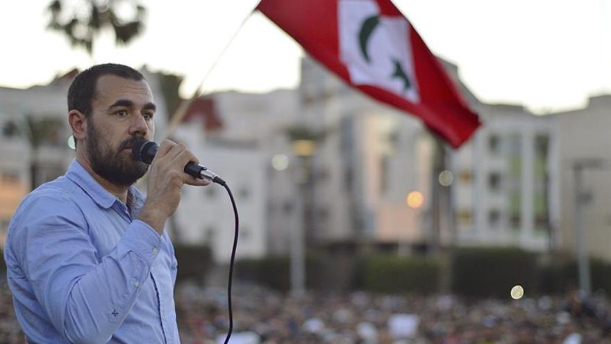 """El líder de las protestas rifeñas conocidas como """"Hirak al Shaabi"""" (Movimiento Popular), Nasser Zafzafi."""