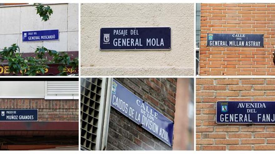 Madrid paraliza el cambio de placas de 52 calles a la espera de la decisión del juez